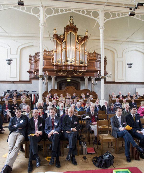 Remonstrantenkirche in Leiden anläßlich eines Vortrages über Arminius, Oktober 2009