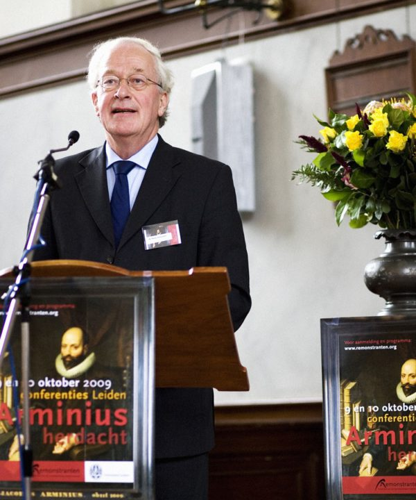 Der Theologe Prof. Dr. Marius van Leeuwen beim Referat über die Aktualität der Remonstranten
